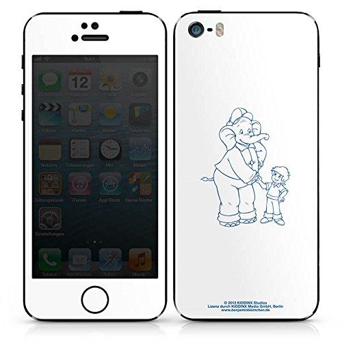 Apple iPhone 4s Case Skin Sticker aus Vinyl-Folie Aufkleber Benjamin Blümchen Fanartikel Merchandise Der sprechende Elefan DesignSkins® glänzend