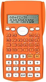 Helect Calculadora Científica de Ingeniería de 2 Líneas, Adecuada Compatible Escuelas y Negocios