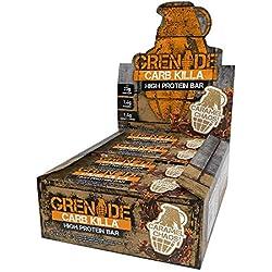 Grenade Carb Killa Barre Hyperprotéinée à Faible Teneur en Glucides 12 x 60G - Caramel Chaos