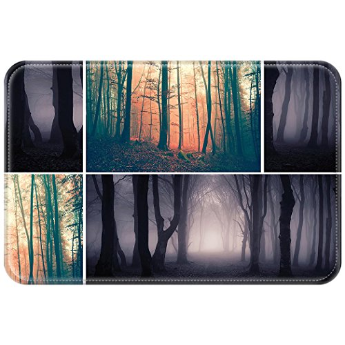 ing Mauspad Office Computer Mouse Pad Pfad Wald Nebel Halloween Licht Mysterious Autumn Forest Nature (Wow-lichter Halloween)