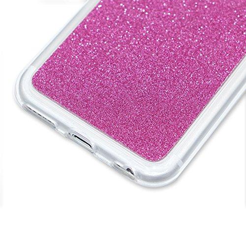 Per iPhone 7 Custodia,Funyye Glitter Brillare Azzurro Graduale Cambiano Colore Stile Cover [Con Pellicola Protettiva] Morbido Sottile Silicone Gomma Gel TPU Protettivo Caso Originale Antiscivolo Coper Design #18