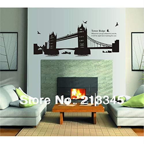 Cczxfcc London Gemini Brücke Führenden Design Wohnzimmer Schlafzimmer Deco Aufkleber Wandbild Wandaufkleber Abziehbilder (Planet Gemini Halloween)