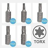 Panorama24 Torx Bit T25, Menge 10 Stück | Alle Größen - T10 T15 T20 T25 30 T40 - Bitsatz TX Bit Set Schraubendreher Stahl S2