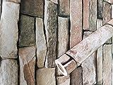 Visario Folie selbstklebend Steinwand Naturstein Dekor 10 m x 45 cm 3034
