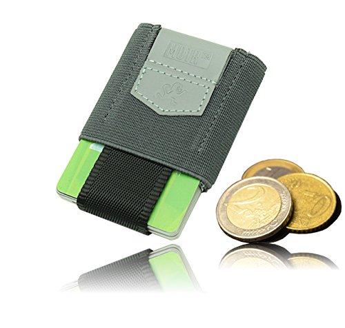 Schlank Stoff Brieftasche (Premium Slim Wallet mit Münzfach - Das KLEINSTE Kartenetui & Mini Portemonnaie aus Textil - Bis 10 Karten & Münzen - Kleine Geldbörse, Minimalist Kreditkarten Etuis, Micro Geldklammer Geldbeutel)