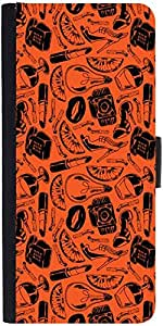 Snoogg Daily Life Pattern Graphic Snap On Hard Back Leather + Pc Flip Cover S...