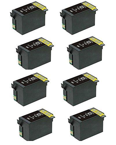 8 x 27XL cartuchos tinta negra Epson WorkForce WF
