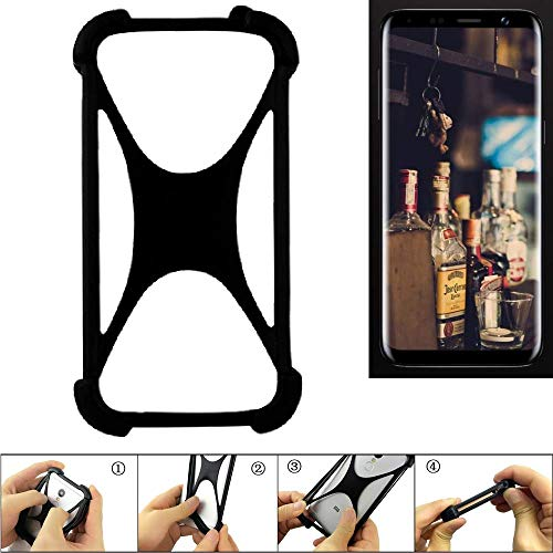 K-S-Trade Bumper Bluboo S8 Silikon Schutz Hülle Handyhülle Silikoncase Softcase Cover Case Stoßschutz, schwarz (1x)