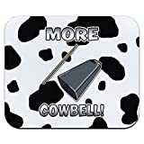 Mehr Cowbell – Musikinstrument Musik Funny Parodie Witz Marching Band Kuh Print Mauspad Mauspad