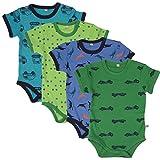 Pippi 4er Pack Kinder Jungen Body mit Aufdruck, Kurzarm, Alter 2-3 Jahre, Größe: 98, Farbe: Dunkelblau, 3820