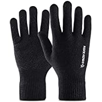 Golovejoy Running Gloves Winter Warm Touchscreen gloves Cycling Gloves for Outdoor Sports as Working Riding Climbing Driving Skiing Black Gloves Men & Women