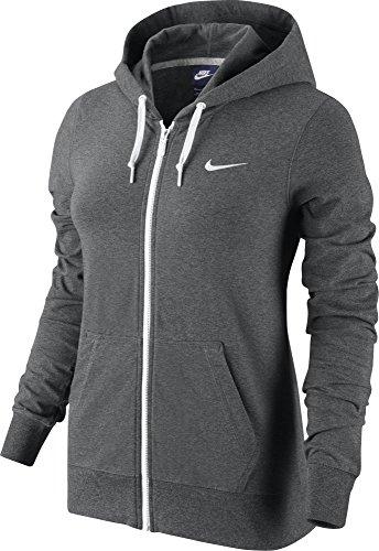 NIKE Veste à capuche en jersey FZ carbone mélange/bianco
