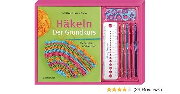 Häkeln Der Grundkurs Set Techniken Und Muster Buch 5 Häkelnadeln