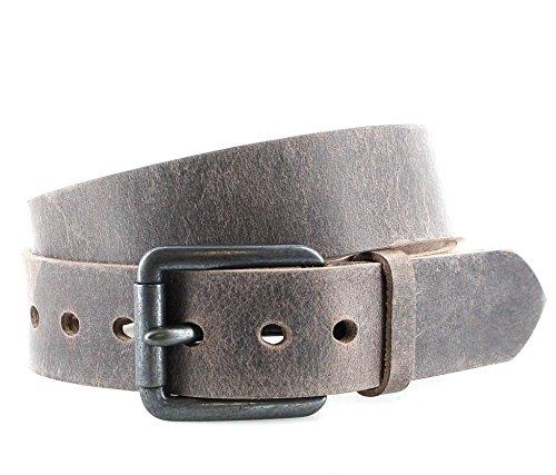 SDV vV001 & ceinture en cuir pour homme marron foncé - Marron - 100