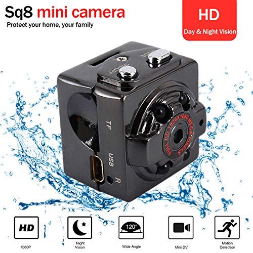 1080P Mini Kamera Überwachungskamera Home Mini Camera/Kleine und tragbare Kamera mit Nachtsicht für Zuhause/Geschäft Baby Kamera Schwarz