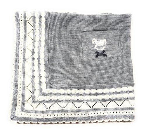 Danielstore-Toquilla de lana para bebés y recién nacidos - Talla Unica, Gris