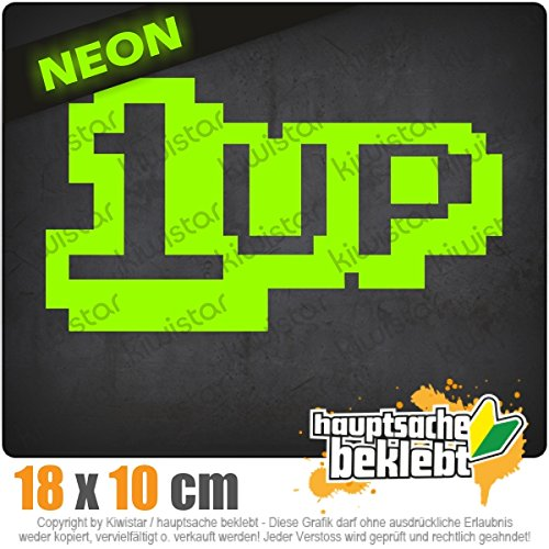 1 Up 18 x 10 cm In 15 Farben - Neon + Chrom! JDM Sticker Aufkleber