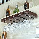 MAFYU Europäischen Massivholz Wein Becherhalter Hängende Becher Rack Einrichtung Küche Dekoration 64 * 25 cm