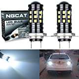NGCAT Super Hell 22700Lumen 3030Glühlampe (27H7Linse LED Leuchtmittel für DRL Leuchtmittel Nebel Lichter Day Running Light Lampe 12V-24V 6000K (weiß)
