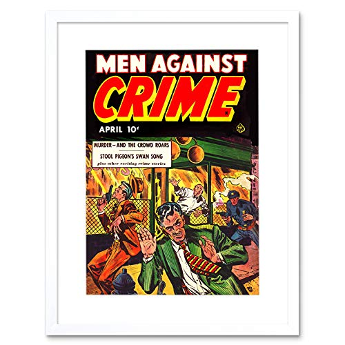Magazine 1951 Men Against Crime Shoot Out Guns Frame Art Print Picture F12X495 -
