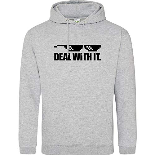 3dsupply Deal with It. - Hoodie, Heather Grey, Gr. M (Gaming-hoodie Mlg)
