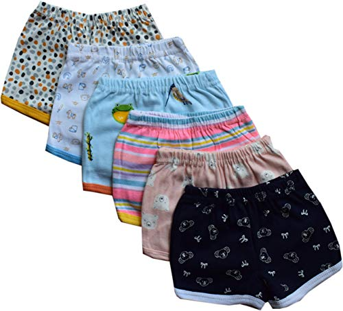 Tinchuk Ultra Soft Printed Boys Boxer Shorts Blooms Inner Wear Multi Color Printed Set of 6 (18-24 Months) Blue