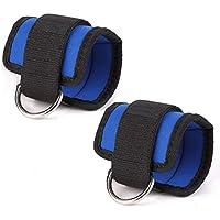 Preisvergleich für Eizur Verstellbare Fußschlaufen Gewichtsmanschetten Für Beine Fitnessgerät Foot Ankle Straps mit starkem Klettverschluss für Beintraining Fitness Training am Kabelzug, 2 Stück