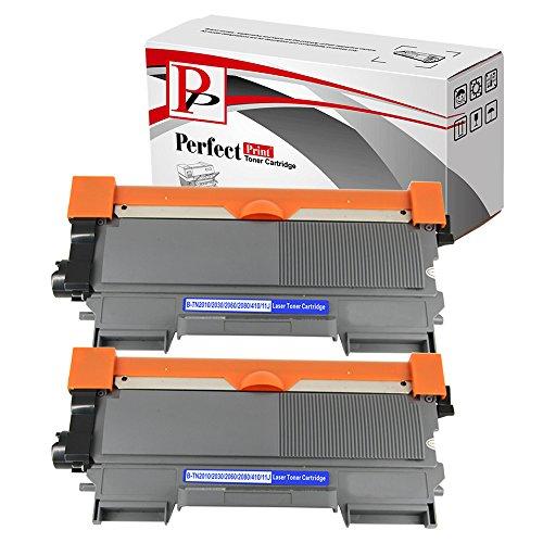 2Kompatible Laser-Tonerkartuschen ersetzt TN2010Für Brother DCP-7055DCP-7057HL-2130HL-2132HL-2135W Drucker, 1000Seiten Kapazität