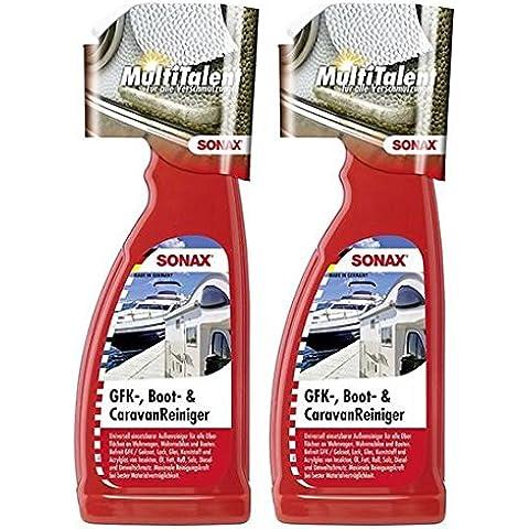 Práctico Set. 2x 750ml Limpiador de Sonax 527400GFK Boot limpiador Caravan limpiador limpiador Barco Caravana Autocaravana limpiador universal