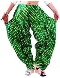 Fun Fabrics Designer Printed Green Patiala Dupatta Set Free Size Best Quality Cotton Made Patiala Dupatta