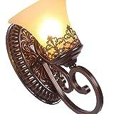 GTB In stile europeo soggiorno studio corridoio rustico lampada da parete in ferro battuto comodino , 6318-2w light source
