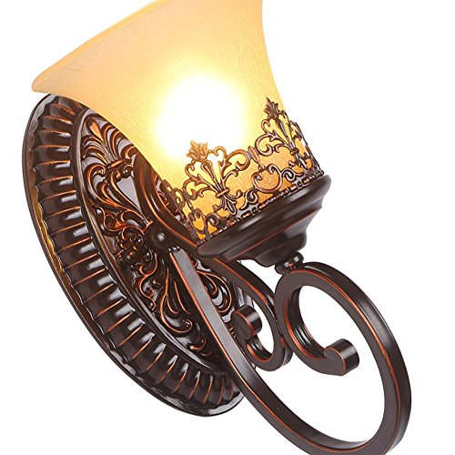 Preisvergleich Produktbild GTB Im europäischen Stil Wohnzimmer rustikale Schmiedeeisen Nachtwandlampe Gang Studie , 6318-2w light source