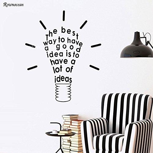 zqyjhkou Inspire Message Idea Wandtattoos Zitate Wandaufkleber Für Büroraum Glühbirne Design Abnehmbare Kunst Wohnkultur Wandbild H562 57x68 cm