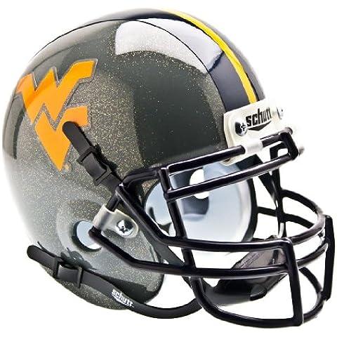 West Virginia Mountaineers (Alternate Gray) Authentic Mini Football Helmet by Schutt