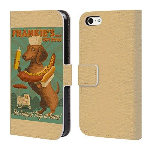 Offizielle Lantern Press Labrador Hund Kollektion Brieftasche Handyhülle aus Leder für Apple iPhone 4 / 4S Frankie's