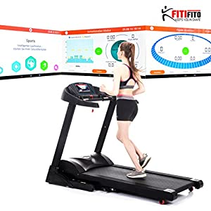 Angebot! Fitifito 8500S Profi Laufband 7,5PS 22km/h mit 10,1 Zoll Touchscreen Android Wifi App 22 Trainingsmodulen inkl. HRC