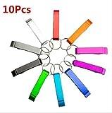 UChic 10 Farben / Lot Personalisierte Hochzeit Gunsten Geschenk Schlüsselbund Tasche Bierflasche Metall Solide Opener Kleine Bar Claw Getränke Schlüsselanhänger Ring