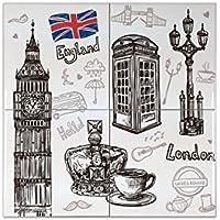 Azulejo Pasión Viajes Ciudad Londres Ceramica impreso 15x15 cm