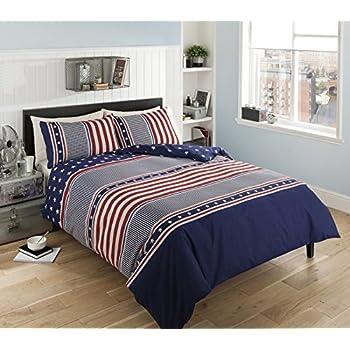 Stars And Stripes Bedding American Usa Flag Bedding Single