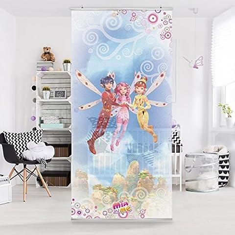 Panel japones Mia and me - Mia, Yuko und Mo above the clouds 250x120cm, panel japonés, paneles japoneses, separadores de ambientes, cortina, paneles japoneses cortina, cortinas, Tamaño: 250cm x 120cm