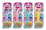 PEZ set de dispensadores My little Pony (4 dispensadores con 3 recargas de caramelos PEZ de 8,5g c/u) + 2 paquetes de recargas (8 recargas de caramelos PEZ de 8,5g c/u)