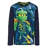 LEGO Wear Jungen Lego Ninjago M-72643-Langarmshirt, Mehrfarbig (Dark Navy 590), 122