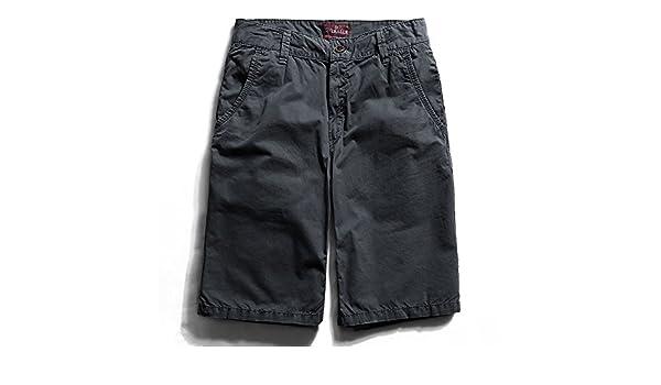WDDGPZDK Strand Shorts Sommer Tragen Mens Cargo Shorts Für Männer Lässig  Gerade Baumwolle Shorts Mann Kurze Hose Männliche Kleidung 805, Dunkelgrau,  ... b7fa6a0840