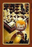 Asbach Uralt reklame schach metal sign, retro, schild aus blech