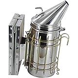 Generic Bee Hive Smoker Stainless Steel w/ Heat Shield Beekeeping Tool