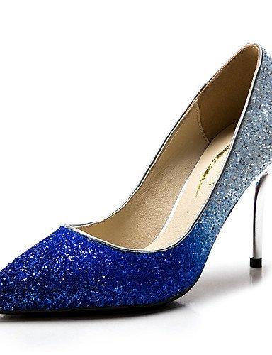 ShangYi Chaussures Femme - Mariage / Habillé / Soirée & Evénement - Bleu / Argent / Or - Talon Aiguille - Talons / Bout Pointu - Talons - golden