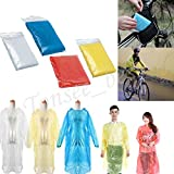 #3: Rain Coat Poncho With Hood Emergency Poncho One Size Fits All - Commuter Friendly Rain Poncho Survival Kit Accessory for Travel Trailblazing Picnics Camping School Sporting Corporate Events - By Orange Creations