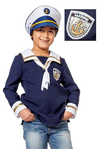 Kostüm Seemann Kinder - Wilbers 3299 Matrose Seemann Kostüm Kinder Matrosenkostüm Kostüm Seefahrer für Jungen 128