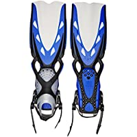 Mares X-Stream - Aletas unisex, color azul, talla XL