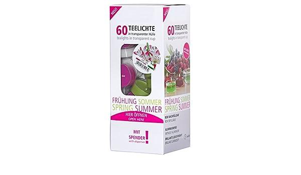 Smart-Planet/® Ambiente Lot de 30 Bougies Chauffe-Plat parfum/ées Lilie avec Housse Transparente et Fleurs